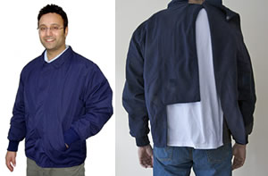 Image of front and back of adapted jacket
