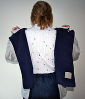 Image of back opening jacket