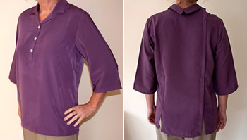 image Of back fastening blouse