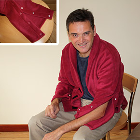 Image of Man wearing bed jacket