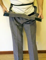 Image of men's drop front trousers