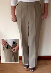 Image Of smart easy wear trousers