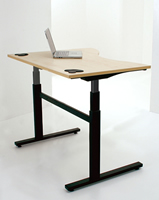 Image of electronically height-adjustable desk