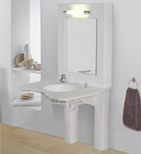 image of Kingkraft's variable height washbasin