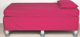 Image Of divan bed With bed raisers