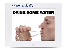 Memrabel cognitive aid showing reminder to drink