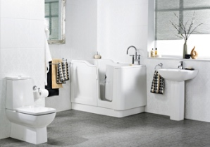 Compact walk-in bath from Opus Bathing