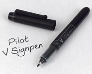 bold black pen