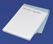 notepad with raised lines