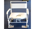 image of wheeled commode/shower chair