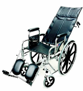 image of wheelchair with reclining back