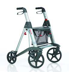 image of new Stannah fourwheeled rollator