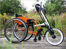 Hand cycle for young wheelchair users
