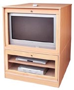Tough tamper-proof TV cabinet