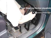 foot joystick steering device