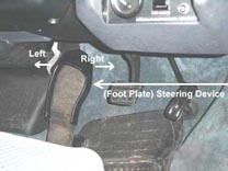 foot plate steering device