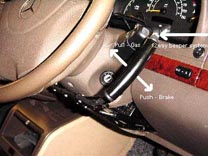 push/pull hand control for acceleration and braking