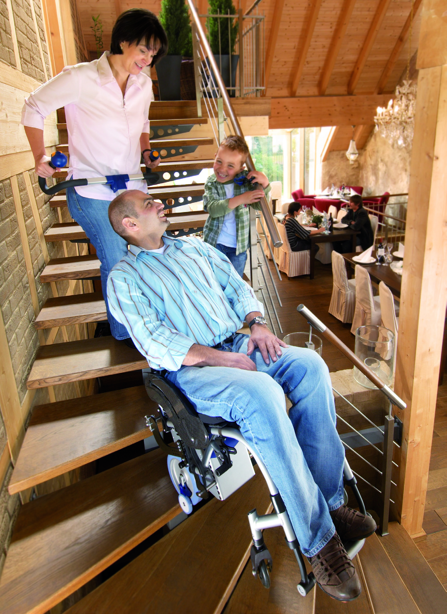 image of S-Max stair climber in use