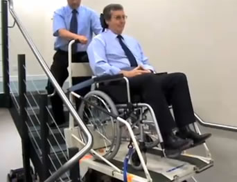 image of Super-Track Major wheelchair evacuation device