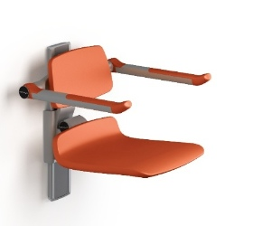 Track-mounted shower seat from Pressalit Care