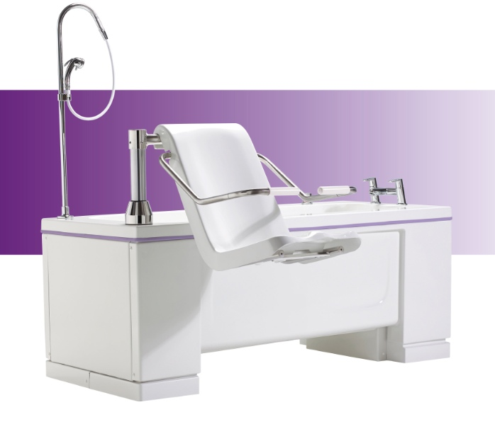 Gentona variable height bath