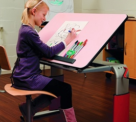 Vision height adjustable table