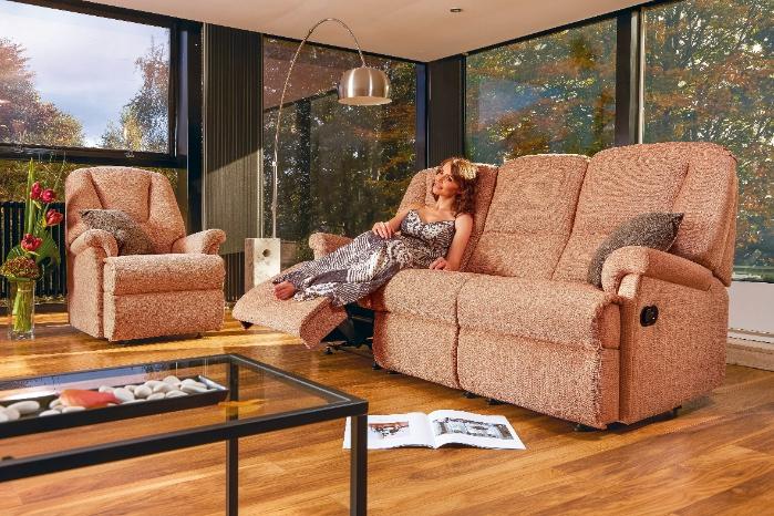 Milburn Chair and Recliner Sofa