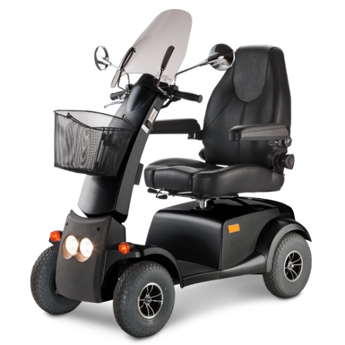 Road safety - scooter with windscreen