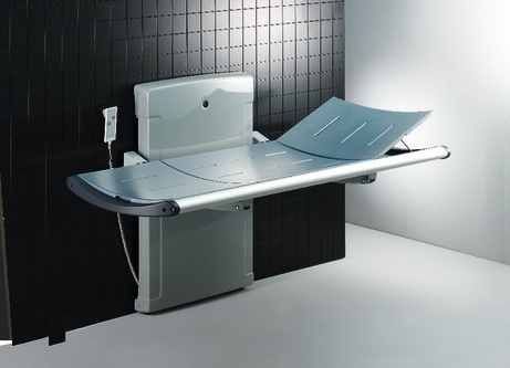 Shower and changing bench