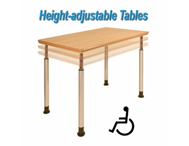 Tough height adjustable table