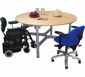 Easywind height adjustable table