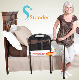 Stander bed rail