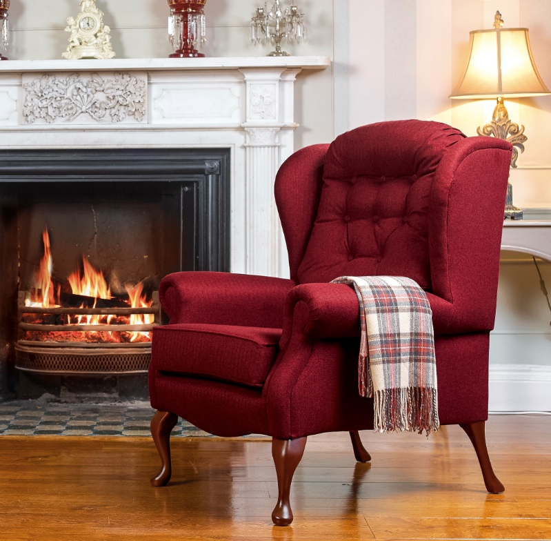 Lynton high seat fireside chair