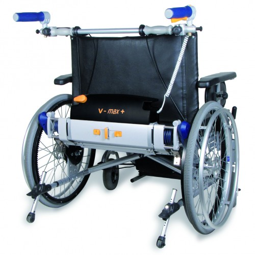 wheelchair with V-Max plus power pack