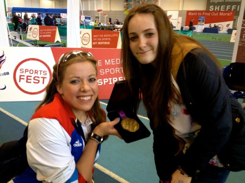 Ellie Simpson of CP Teens meets Paralympic medallist