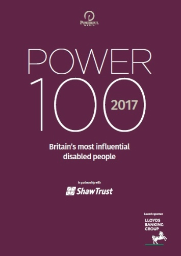 Power 100 influential disabled people