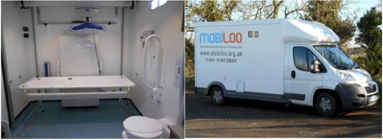 Mobiloo van and internal equipment
