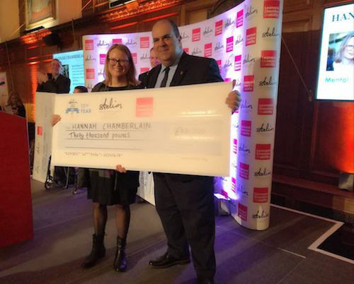 Hannah Chamberlain wins Stelios award