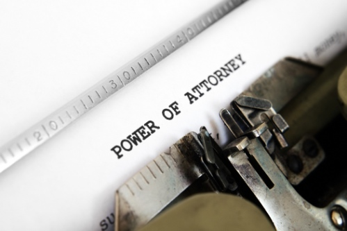 Power of attorney or Court of Protection order