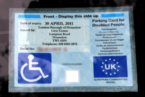 Blue Badge parking permit