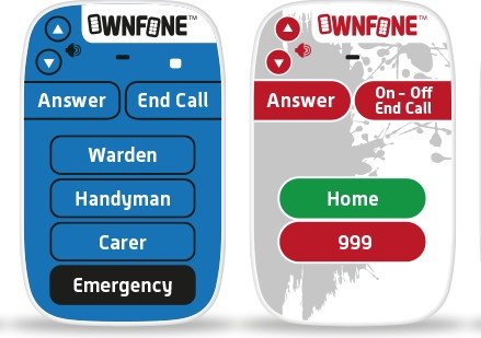 Ownfone telecare handsets