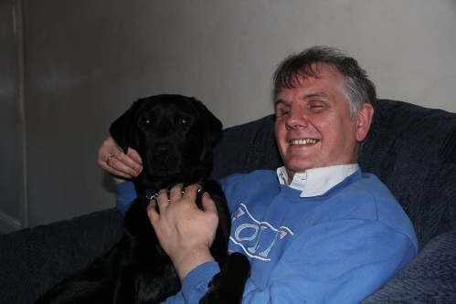 Philip Anderson with his guide dog Quinta