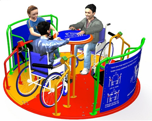 New self-propelled AbilityWhirl Roundabout