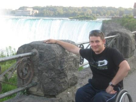 Stuart Wheeler at Niagara Falls