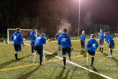 Portsmouth amputee football team in training