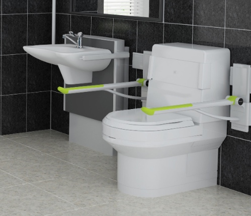 bathroom with Clos-o-Mat wash and dry toilet