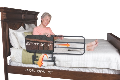 EZ adjustable bed rail from Able2