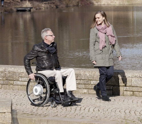 Manual chair with Ottobock eSupport power assistance
