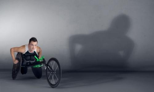 Ben Rowlings in his racing chair