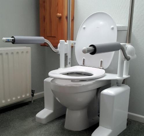 Aerolet toilet lift in Andrew Watkins bathroom